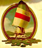 Beautiful SAILING Sailboat 70s Vintage t-shirt iron-on transfer nos retro american tee fashion by Roach