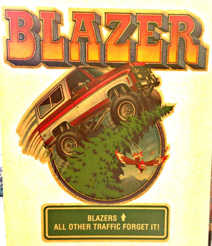CHEVY BLAZER 4x4 Vintage 70s t-shirt iron-on transfer Hot Rod Muscle authentic NOS retro american fashion Roach