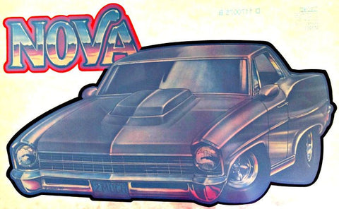 CHEVY NOVA Vintage 70s Hot Rod Muscle t-shirt iron-on transfer authentic NOS retro american fashion Roach