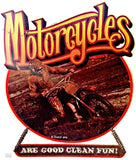 moto, motorcycles, roach, 1976, vintage, 70s, t-shirt, iron-on