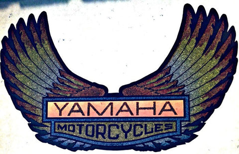 YAMAHA MoTorCyCles Vintage 70s Hot Rod Muscle t-shirt iron-on transfer authentic NOS retro american fashion