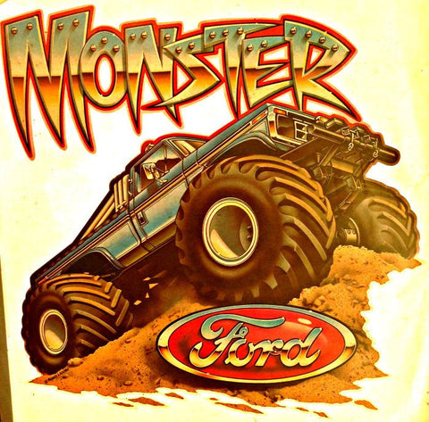 Vintage 70s FORD MoNsTeR Truck t-shirt iron-on transfer authentic NOS retro american fashion