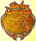 Harley Davidson Vintage 70s motorcycle t-shirt iron-on transfer authentic NOS retro american fashion by Roach