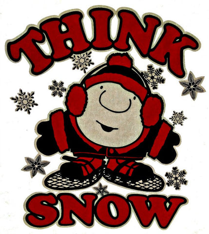 ZIGGY THinK SnOw Vintage 70s t-shirt iron-on transfer Original Authentic american comic comedy
