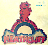 HEATHCLIFF Rainbow comic strip cat Vintage 70s Iron On tee shirt transfer Original Authentic american fashion