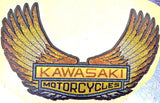 KAWASAKI MoTorCyCles Vintage 70s Hot Rod Muscle t-shirt iron-on transfer authentic NOS retro american fashion