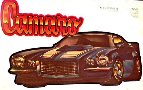 CAMARO Vintage 70s Hot Rod Muscle t-shirt iron-on transfer authentic NOS retro american fashion