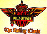 Harley Davidson Vintage 70s motorcycle t-shirt iron-on transfer authentic NOS retro american fashion