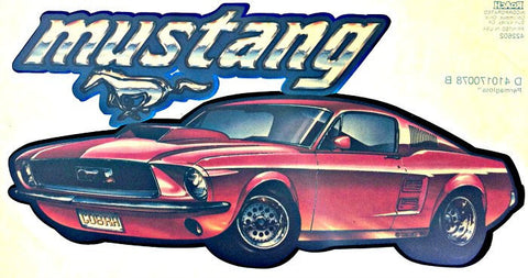 Ford MUSTANG Muscle Car Racing Vintage 70s t-shirt iron-on transfer authentic NOS retro american fashion Hot Rods by Roach