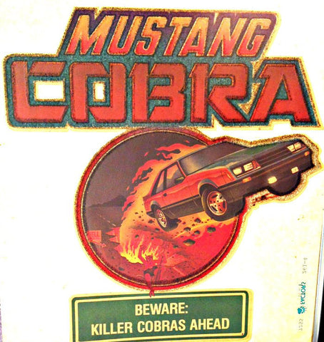 MUSTANG COBRA Muscle Car Racing Vintage 70s t-shirt iron-on transfer authentic NOS retro american fashion Hot Rods