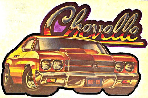 CHEVELLE Muscle Car Racing Vintage 70s t-shirt iron-on transfer authentic NOS retro american fashion Hot Rods by Roach