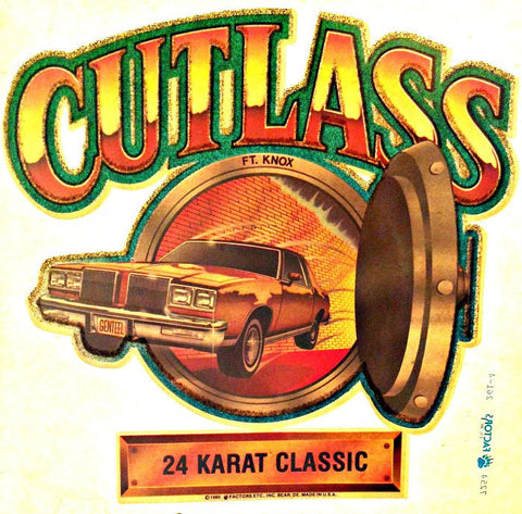 CUTLASS Muscle Car Racing Vintage 70s t-shirt iron-on transfer authentic NOS retro american fashion Hot Rods