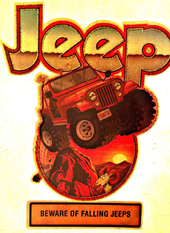 Vintage 70s JEEP Truck t-shirt iron-on transfer authentic NOS retro american fashion little glitter too