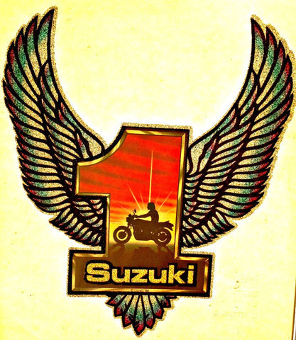 vintage, 70s, suzuki, t shirt, iron on, retro, graphic, tee, transfer
