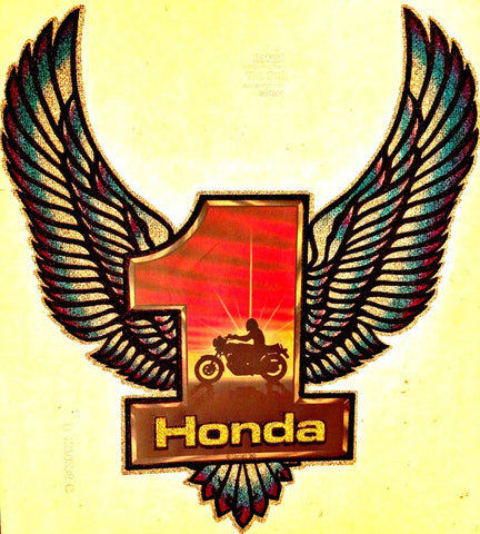 LAST 1 HONDA Vintage 70s motorcycle t-shirt iron-on transfer authentic NOS retro american fashion by Roach