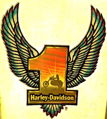 Last 1 HARLEY DAVIDSON Vintage 70s motorcycle t-shirt iron-on transfer authentic NOS retro american fashion by Roach