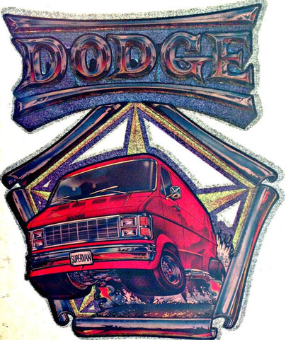 DODGE Super VAN Vintage 70s t-shirt iron-on transfer authentic NOS retro american fashion Hot Rods Muscle Cars