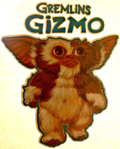 gremlins, vintage, 70s, t shirt, iron on, gizmo