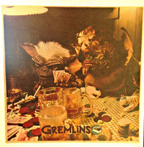 BaD GREMLINS gambling drinking smoking Vintage t-shirt iron-on transfer Original Authentic NOS 80s spielberg