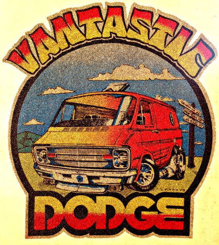 DODGE VANTASTIC Vintage 70s t-shirt iron-on transfer authentic NOS retro american fashion Hot Rods Muscle Cars