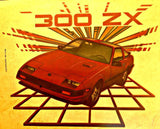 NISSAN 300 ZX Vintage 70s t-shirt iron-on transfer authentic NOS retro american fashion Hot Rods Muscle Car