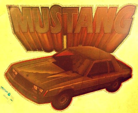 Old MUSTANG Muscle Car Racing Vintage 70s t-shirt iron-on transfer authentic NOS retro american fashion Hot Rods