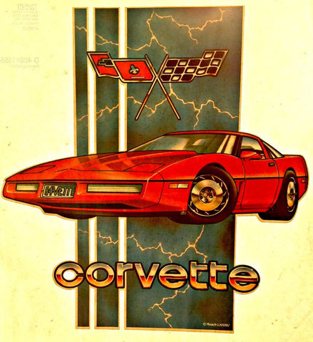 vintage, corvette, grand prix, t-shirt, iron-on, diy, american fashion,