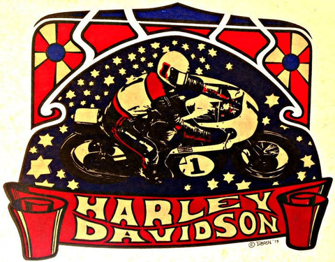 harley davidson, vintage t-shirt iron-on, motorcycles