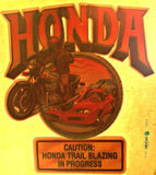 HONDA Moto X Race Vintage 70s motorcycle t-shirt iron-on transfer authentic NOS retro american fashion