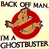 1984 GHOSTBUSTERS Back Off Man Vintage t-shirt iron-on transfer Original Authentic retro stock Aykroyd Bill Murray