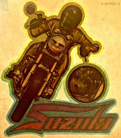 Awesome SUZUKI Vintage 70s motorcycle t-shirt iron-on transfer authentic NOS retro american fashion by Roach