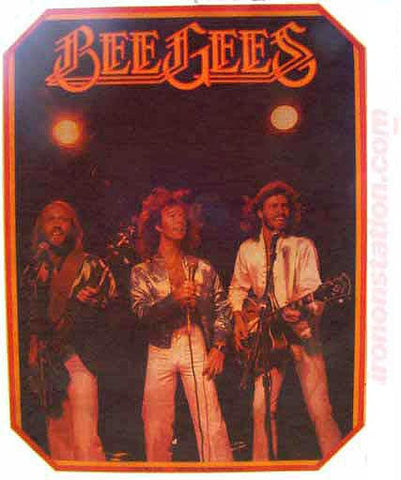 bee gees, vintage, 70s, t-shirt, iron-on, retro, andy gibb, original, nos, rock, band tees