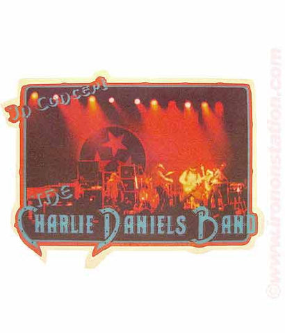 charlie daniels, band, vintage, 70s, t-shirt, iron-on