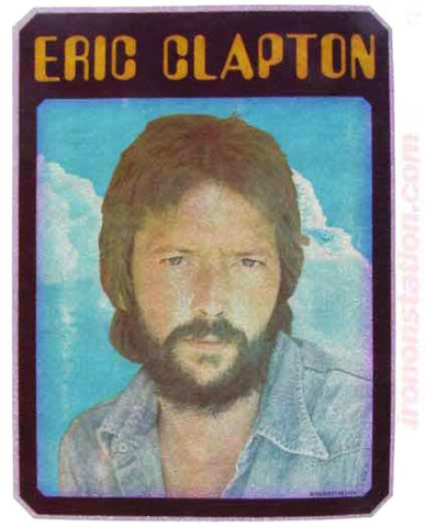 Eric Clapton 70s Vintage t-shirt iron-on transfer Original Authentic retro diy American Rock fashion