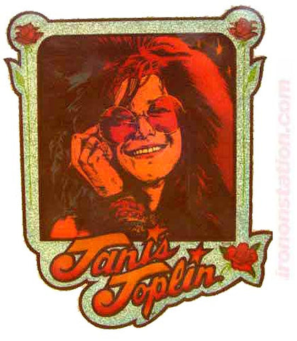 janis, joplin, 70s, vintage, t-shirt, iron-on