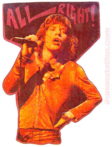 rolling stones, album, all right, mick jagger, vintage, t-shirt, iron-on, 70s