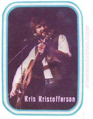 Kris Kristofferson, 70s, vintage, t-shirt, iron-on