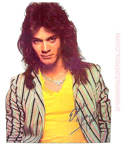 eddie van halen, vintage, 70s, t-shirt, iron-on