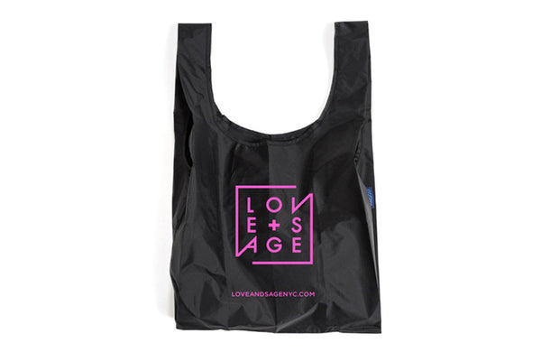 Black + Pink Reusable Tote