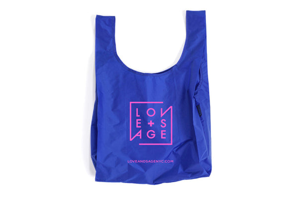 Blue + Pink Reusable Tote