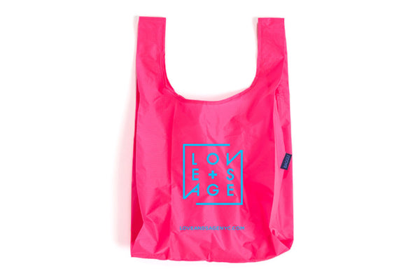 Neon Pink + Blue Reusable Tote