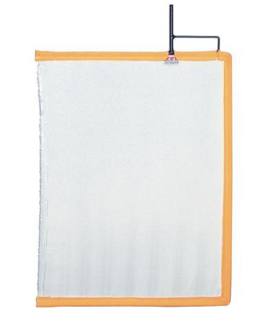 "24""X36"" White Artificial Silk Flag"