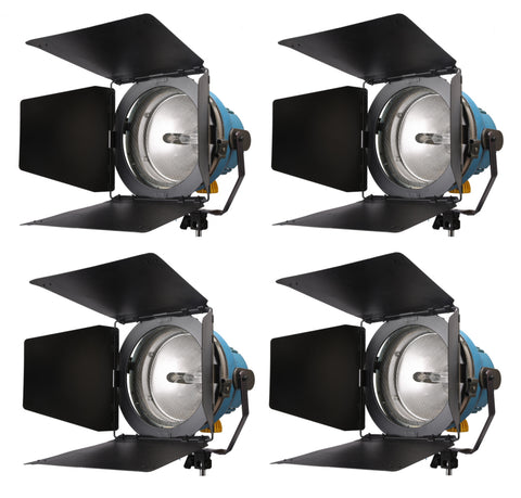 Arri Arrilite (2) 1000W & (2) 650W Open Face Light Kit