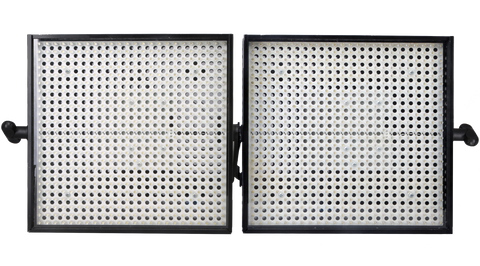 Litepanels 1x1 LED Duo Light Kit with Gold Mount Battery Brackets