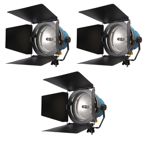Arri Arrilite (3) 1000W Open Face Light Kit
