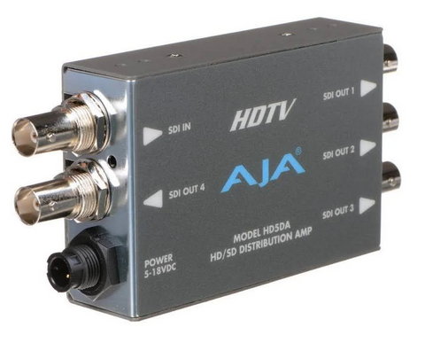 AJA Serial HD5DA 1x4 High Definition Video Distribution Amp