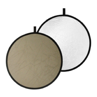 "Calumet 42"" Collapsible Reflector Disc: White/Soft Gold"