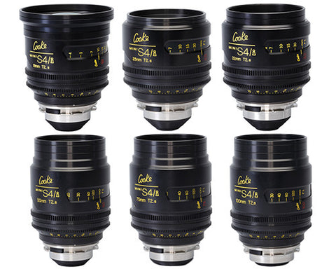 Cooke PL Mini S4/i (6) Prime Lens Kit