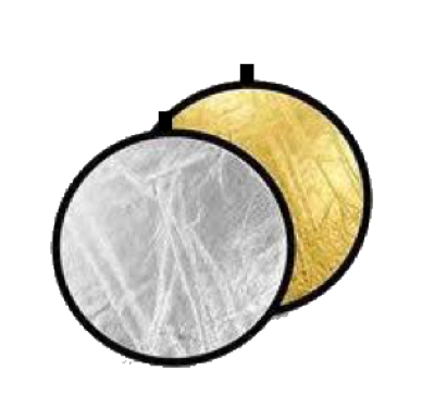 "Impact 22"" Collapsible Reflector Disc: Silver/Gold"