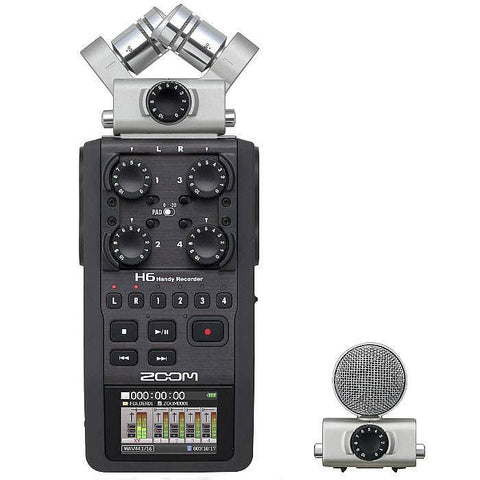 Zoom H6 Handy Recorder with Interchangeable Micro